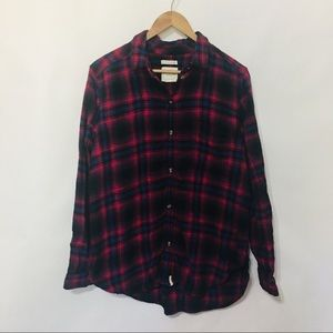 American Eagle LS button up flannel